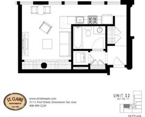 Floor Plans U2013 St. Claire Apartments | Downtown San Jose, CA | Luxury Loft  Apartments