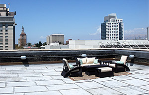 Picture of the rooftop seating area